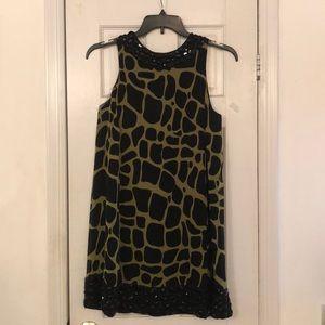 INC Giraffe Print 100%Silk Dress
